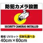 看板 「 防犯カメラ設置」 横型 40cm×60cm