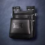 【欠品】【3月中旬予定】ニックス 鳶職向仕様ツーウェイタイプヌメ革2段腰袋 KBS-201TB