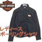 ショッピングハーレーダビッドソン ハーレーダビッドソン HARLEY-DAVIDSON ボーリングシャツ レディース デッドストック 99102-06VW