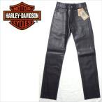 ハーレーダビッドソン レザーパンツ デッドストック ライダース バイカー 革パン HARLEY-DAVIDSON ブラック 黒 牛革 W28インチ