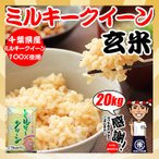 玄米 お米 20kg (5kgx4袋) 令和元年産 千葉県産 ミルキークイーン 再調整済み