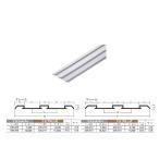 アルミ敷居 (下) レール イーグル ハマクニ ダブルP-33-4005mm TKシルバー 436-209