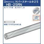 ハンガー Hバー パイプ φ25(両端打込みナット付) ロイヤル クロームめっき HB-25RN サイズ:φ25×620mm