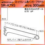 ストックルーム用 ハンガー ブラケット 棚受 ロイヤル ホワイト塗装 SR-A79S -300mm
