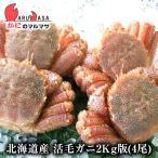 北海道産 活毛がに / 業務用2kg版 4尾セット(かに カニ 蟹)お土産 通販
