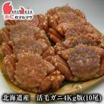北海道産 活毛がに / 業務用4kg版 10尾セット(かに カニ 蟹)お土産 通販