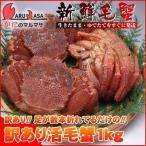北海道産 (わけあり 訳あり)活毛ガニ 1kgセット(かに カニ 蟹)