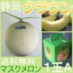 送料無料 静岡県産 クラウンメロン マスク メロン A 1玉 高級メロン