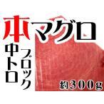 【週間特売】本マグロ(クロマグロ)中トロ約300gブロック(蓄養マグロ)