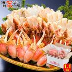 ズワイガニ カット済  生ズワイガニ セット 1.1kg 2人前 カニ爪 ポーション むき身 ずわい 蟹 お取り寄せ グルメ ギフト 送料無料 かに 北海道