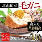 【当店人気NO1】無添加 浜茹で毛ガニ【業界最高3〜4特ランク堅蟹】(600g)