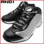 AND1 TAI CHI MID タイチ ミッド 1055MSB ブラック×シルバー×ホワイト アンドワン バッシュ ダンス バスケットシューズ