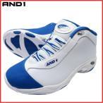 AND1 TAI CHI LX MID タイチ ミッド 1055MWM ホワイト×ロイヤルブルー×シルバー バスケット シューズ バッシュ ダンス アンドワン
