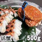 北海道産 活毛がに 500g  中型 毛ガニの美味しさを味わうなら、未冷凍の活け毛蟹。カニ味噌