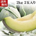 (送料無料)青肉メロン 2kg×2玉入り(大玉サイズ)果肉が軟らかい北海道産青肉メロン、旬のフルーツグルメ(くだもの お中元ギフト)