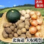 (送料無料)じゃがいも・かぼちゃ・たまねぎ 北海道大収穫祭 野菜セット(インカのめざめ・男爵いも・きたあかり農産詰め合わせ)
