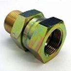 鉄製高圧継手変換アダプター 0609平行ガスメネジ(でっぱりシート)×平行ガスオネジ(へっこみシート)0609-0804 | G1/2×G1/4