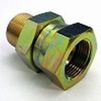 鉄製高圧継手変換アダプター 1609ユニファイメネジ(へっこみシート)×平行ガスオネジ(へっこみシート)1609-9U06 | 9/16UNF×G3/8