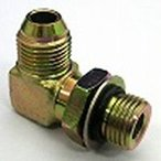 鉄製高圧継手  OE33タイプ90°エルボ平行ガスオネジ(座付Oリング)×平行ミリオネジ(でっぱりシート)OE33-08M22 | G1/2×M18(mm)