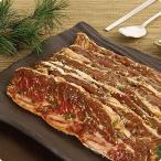 [凍]ヤンニョム(味付け)骨付き牛カルビスライス(LAカルビ)1kg/韓国焼肉/BBQ
