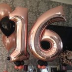 数字 バルーン 2つセット ナンバー 誕生日 40寸 バースデー パーティー 風船 幼稚園 小学生 大人 インスタ映え 大きい