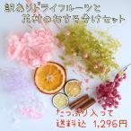 訳ありドライフルーツと花材のおすそ分けセット ハーバリウム キット ポイント 花材は訳なし