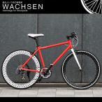 訳あり 700C クロスバイク シマノ7段変速 アルミフレーム ディープリム スタンド 自転車  ヴァクセン WACHSEN bsc-7001