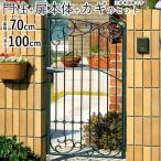 門 門扉 ロートアイアン門扉 キャスリート 片開き 門柱タイプ 07-10 8型 三協立山 地域限定送料無料