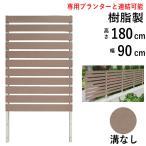 フェンス ガーデン 目隠し おしゃれフェンス ガーデニング 木目調 樹脂製 高さ180cm×幅90cm フラットタイプ