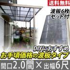テラス屋根 FK波板付テラス屋根 フラット 2.0間6尺 エクステリア レトログレー