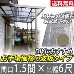 テラス屋根 FK 波板なし テラス屋根 フラット 1.5間6尺 エクステリア レトログレー