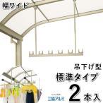 竿掛け 吊り下げ式竿掛け 物干し金物 SATW-01-2 ワイドサイズ 標準タイプ 2本入 三協立山アルミ テラス用