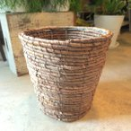 バスケット鉢カバー(ブラウン)6号鉢サイズ 観葉植物 花鉢 プレゼント ギフト 誕生日 開店祝い 鉢かご 鉢カゴ