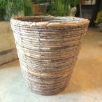 バスケット鉢カバー(ブラウン)8号鉢サイズ 観葉植物 花鉢 プレゼント ギフト 誕生日 開店祝い 鉢かご 鉢カゴ
