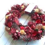 リース ピンクローズ ナチュラルリース 直径約32.5cm クリスマスリース 4327-A グリーンハウス  薫る花 おしゃれ ナチュラル 玄関ドア 自然素材 手作り
