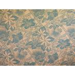 ハワイアンファブリック綿ポリ /全体柄/ティアレ・レフア・ハイビ/コーラル・グレー 品番HFR808