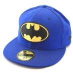 ニューエラ NEWERA xバットマンコラボ BATMAN BATロゴ 59FIFTY ブルー ビンテージ