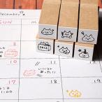消しゴムはんこ ラバースタンプ 消しゴムスタンプ  和田真由子 スケジュール帳スタンプ 15mm角 手帳 スケジュール帳 からふる屋
