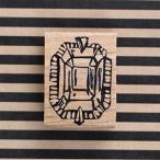 消しゴムはんこ ラバースタンプ 消しゴムスタンプ  ゆめはんこ ジュエリー 縦37mm×横26mm (0003B-4030) 手帳 スケジュール帳 からふる屋