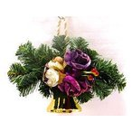 【クリスマスのベル飾り】 ローズメタルベル パープル