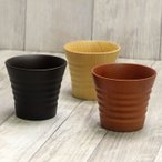 木製 コップ 丸玉マグカップ 布貼り 赤・黒 (A) お正月 迎春