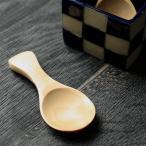 木製ミニスプーン 茶さじ ナチュラル 約8cm メール便180円対応 母の日