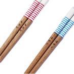 名入れ子供用若狭塗箸 プチライン 16.5cm レッド・ブルー 全2種