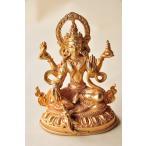 ネパールパタン製 仏像 ラクシュミー 吉祥天 銅製総金箔【送料無料】
