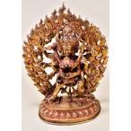 チャクラサムヴァラ 最勝楽   ネパールパタン製仏像  銅製総金箔 ハンドメイド 【送料無料】