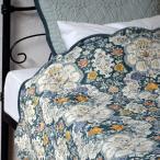 ショッピングキルト キルト ベッドカバー セット ダブル Flower インド綿100% おしゃれ かわいい