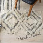 玄関マット 室内 屋内 ラグマット フロアマット Nested Diamond 60×95 ウール 手織り おしゃれ かわいい
