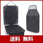 Surmor チャイルドシート 保護マット 新生児 車 シートカバー 座席保護 シートプロテクター 滑り止め ブラック チャイルドシート マット (保