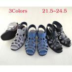 ショッピングブーツサンダル (本革) 日本製 足がキレイに見える/パンチングのブーツサンダル