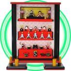 ショッピングケース ミニひな ガラスの小さなお雛様 愛され雛五段飾り MH003P 薄型ガラスケース